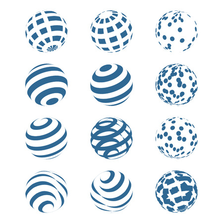 orbs: Abstract Sphere Logo Set for business. Vector illustration