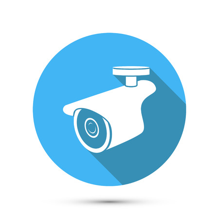 Flat Icon of Security Camera. Vector illustration