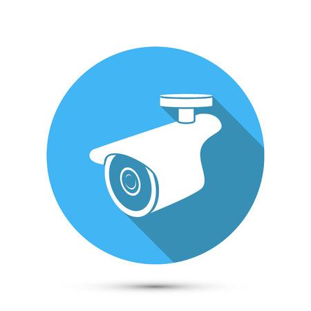 Wohnung Symbol des Überwachungskamera. Vektor-Illustration Standard-Bild - 42277851