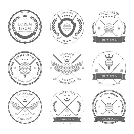 golf stick: Golf labels and icons set. Vector illustration Illustration