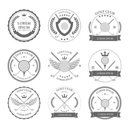 Golf labels and icons set. Vector illustration Illustration