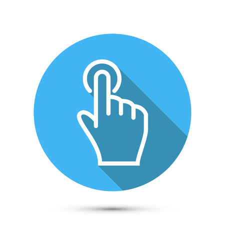 hand touch: Flat Social icon hand touch isolated. Vector illustration