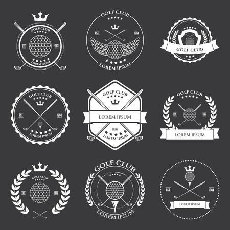symbol sport: Golf Etiketten und Icons Set Vektor-Illustration Illustration
