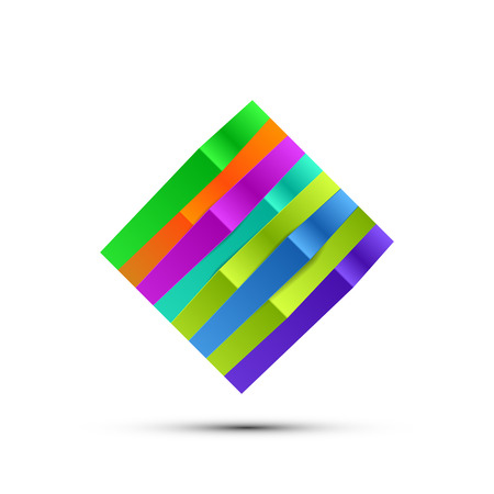 square logo: Abstract Colorful Square Logo isolated. Vector illustration