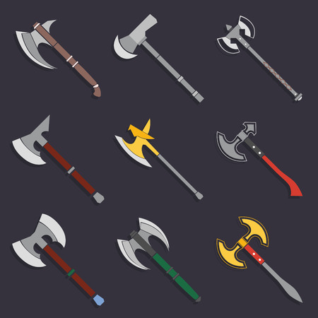 axes: Axes and battle axes Collection vector illustration Illustration