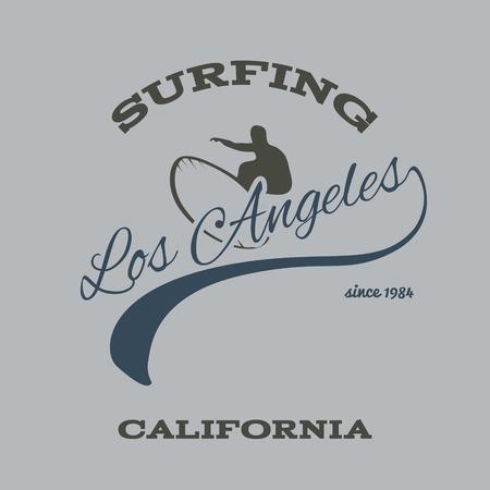 malibu: surfing typography, t-shirt graphics print, vectors illustration Illustration