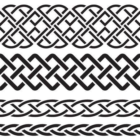keltische muster: Set der keltischen Muster Grenzen Vektor-Illustration Illustration
