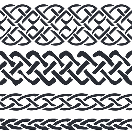 the irish image collection: Set of Celtic Pattern Borders vector illustration