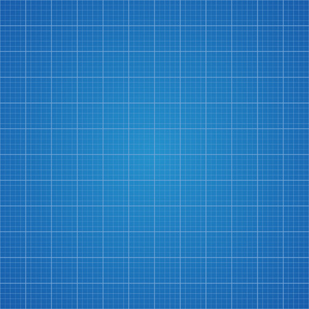 graphing: Blueprint grid background. Graphing paper for engineering in vector illustration