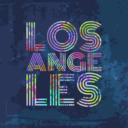 los angeles: Los Angeles - Artwork for wear in custom colors. Vector illustration