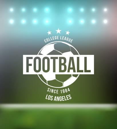 Fútbol Fútbol Tipografía Diseño de la insignia del vector Elemento Ilustración de vector