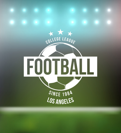 pelota de futbol: Fútbol Fútbol Tipografía Diseño de la insignia del vector Elemento