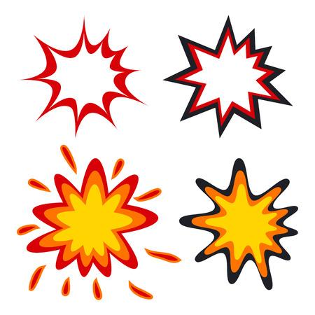 Comic speech bubbles in pop art style vector illustration Stock Illustratie
