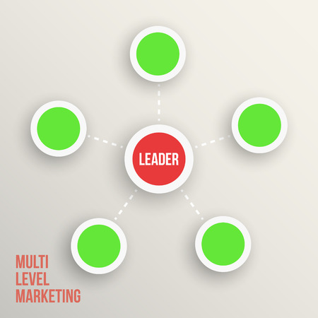 tree linked: Multi level marketing Leader diagramm  vector illustration Illustration