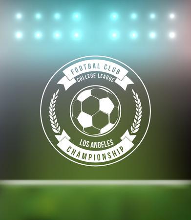 soccer goal: Soccer Football Typography Badge Design Element vector