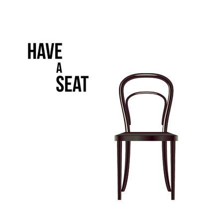 article of furniture: Have a seat. Chair isolated on white vector illustration