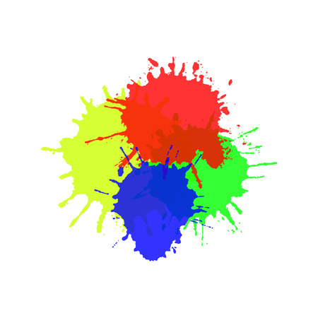 splats: Watercolor splats isolated on white background Vector illustration