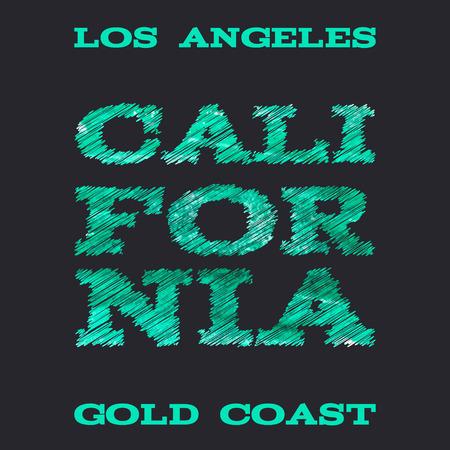 surf team: California surf typography t-shirt graphics vectors illustration Illustration