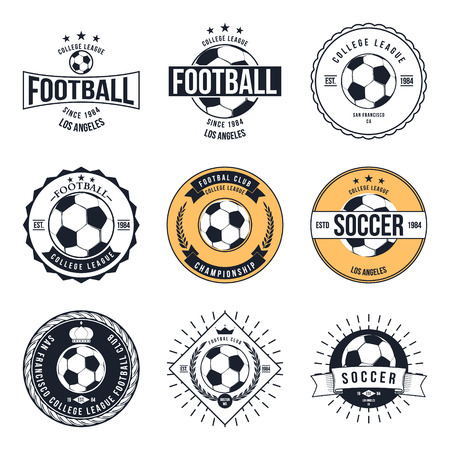 soccer club: Soccer Football Typography Badge Design Element vector