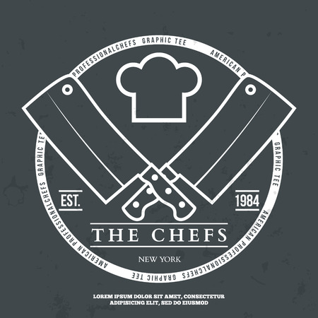 Chefs Vintage T-shirt graphics print vector illustration