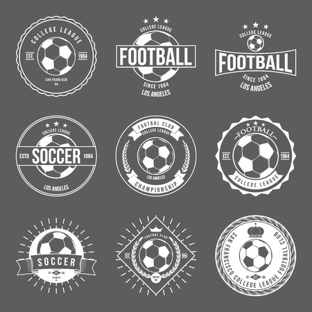 Voetbal Typografie Badge Design Element vector