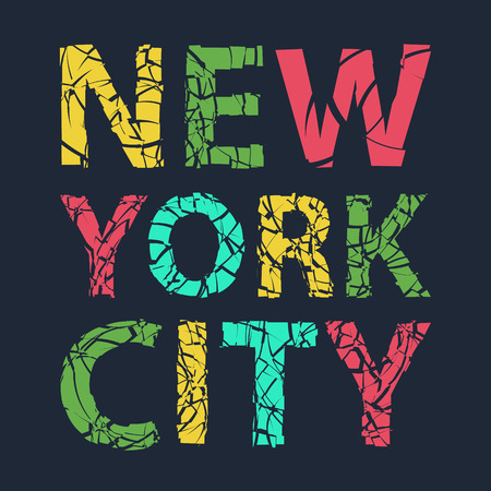 illsutration: New York city typography, t-shirt graphics, vector illsutration