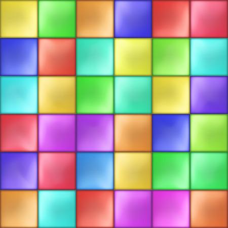 Abstract Colorful Squares Mosaic Pattern Vector illustration Illusztráció