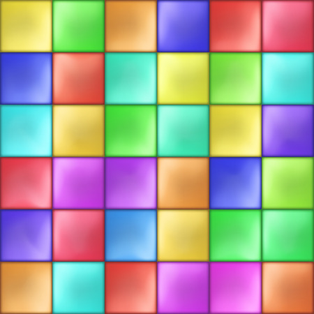 Abstract Colorful Squares Mosaic Pattern Vector illustration Vectores