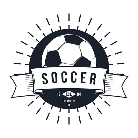 Soccer Football Typography Badge Design Element vector
