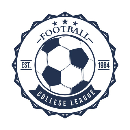 collegiate: Soccer Football Typography Badge Design Element vector
