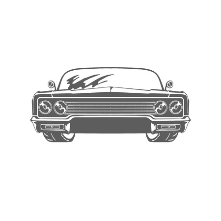Retro car isolated on white background vector illustration