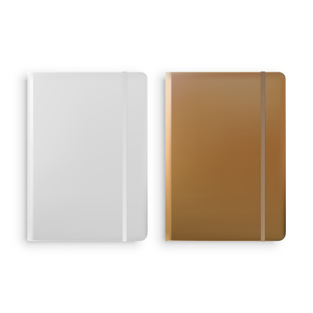 Notebook Templates Isolated on White Background Vector illustration