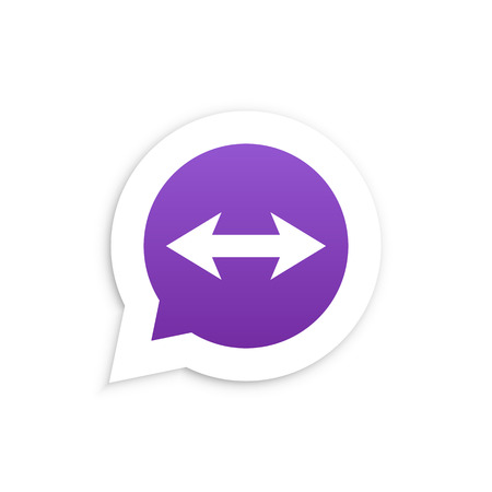 friend nobody: Arrows in speech bubble icon Vector illustration