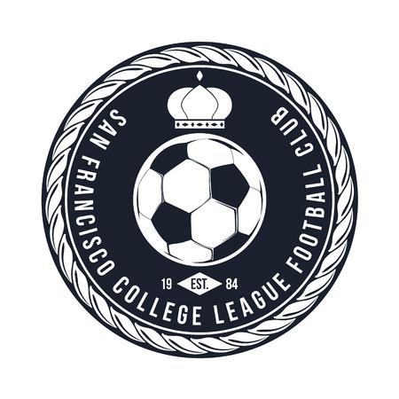 Voetbal Typografie Badge Design Element vector Vector Illustratie