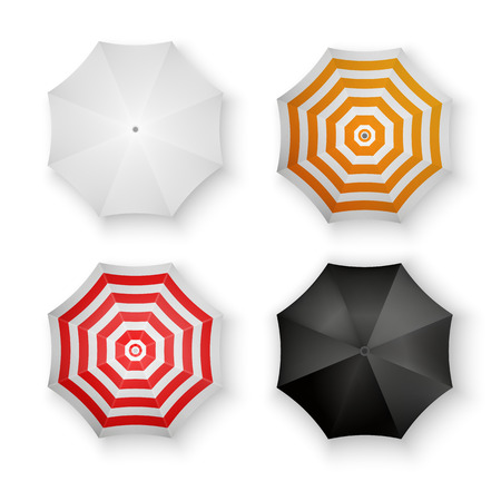umbrella: Set of Colorful Umbrellas Isolated Vector Illustration