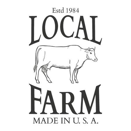 Set of agriculture vector label design elements Illustration Stock fotó - 44329478
