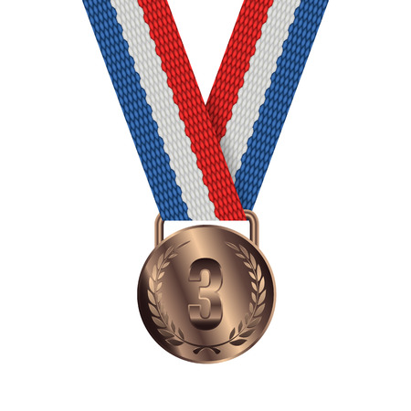 bronze medal: Bronze Medal Isolated on White Background Vector illustration