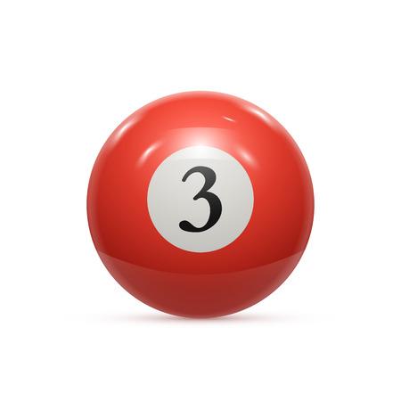 artistry: Billiard three ball isolated on a white background vector illustration Illustration