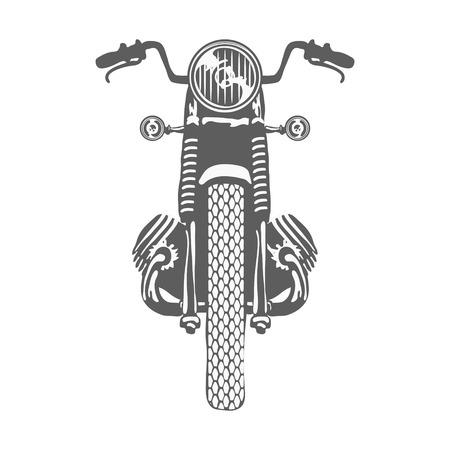 Hand Drawn Vintage Motor Bike Vector illustration
