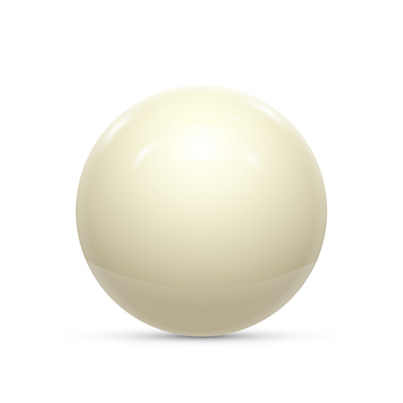 Billiard white ball isolated on a white background vector illustration