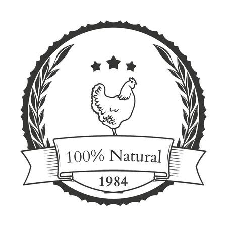 Set of agriculture vector label design elements Illustration Vetores