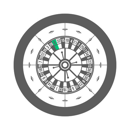 wheel of fortune: Casino Roulette Isolated on white background Vector illustration