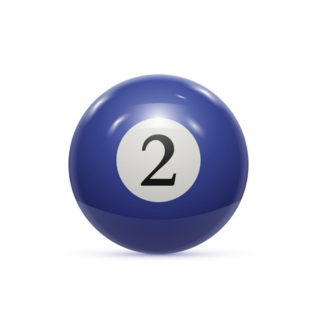 Billiard two ball isolated on a white background vector illustration