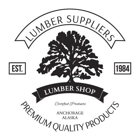 maderas: Lumber Tienda Etiqueta Ilustraci�n Elementos de dise�o vectorial Vectores
