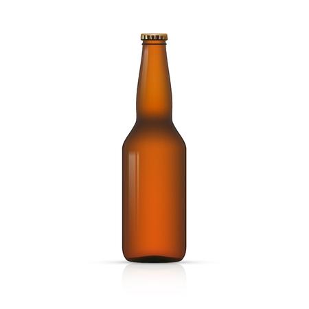 package sending: Blank Bottle on white background vector illustration