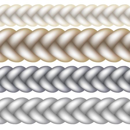 シームレスな三つ編みベクトルの不織布イラスト分離されたホワイト バック グラウンド  イラスト・ベクター素材