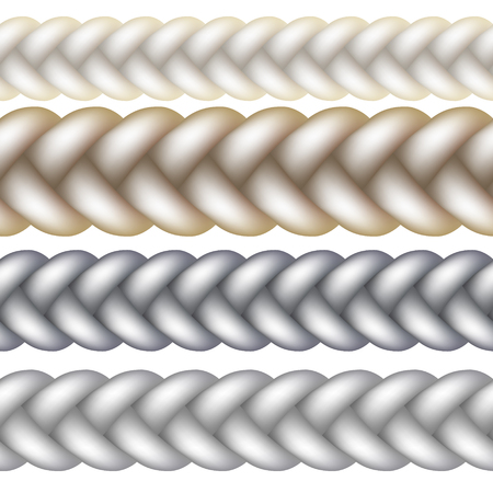 Seamless Woven Braid Vector illustration Isolated on white background Ilustrace