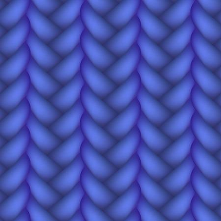 plaits: Seamless Woven Braid Vector illustration Isolated on white background Illustration