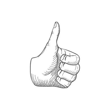 thumbsup: Hand giving a thumbs up Vector illustration