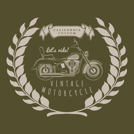 indianapolis: Motorcycle vintage graphics, t-shirt typography, Vintage vector illustration